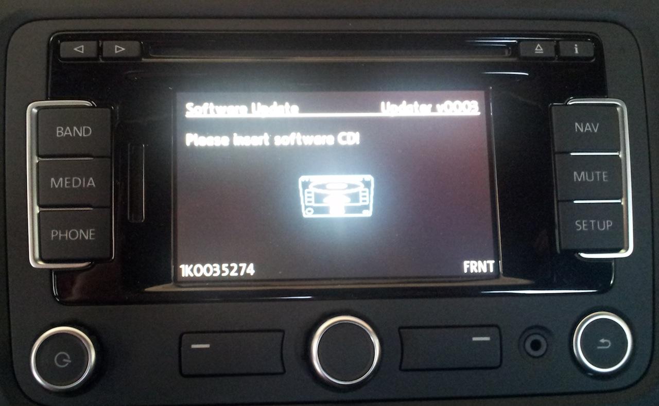 RNS-315 stuck at Software Update - VW GTI MKVI Forum / VW