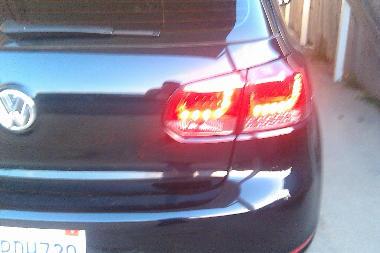 Home spyder black led tail lights vw golf gti golf r mk6 - That Was On The Car And Lit