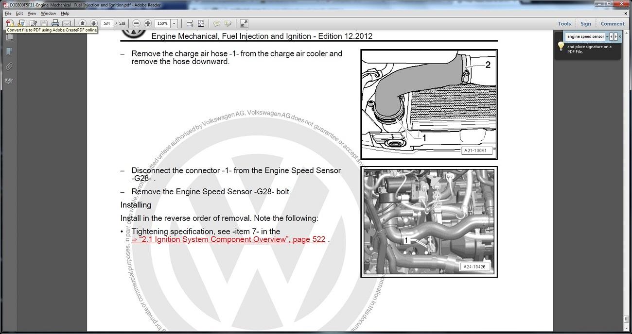 vwvortex.com - 2013 cc crank position sensor  forums (vwvortex)